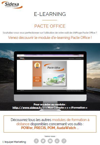 Module e-learning pacte office