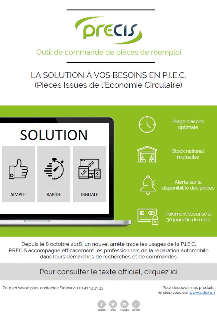 PRECIS : La solution à vos besoins en P.I.E.C