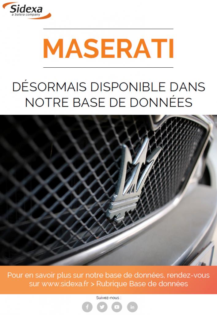 nouveauté base de données Maserati